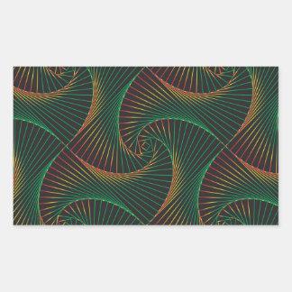Adesivo Retangular Torcido - verde e vermelho