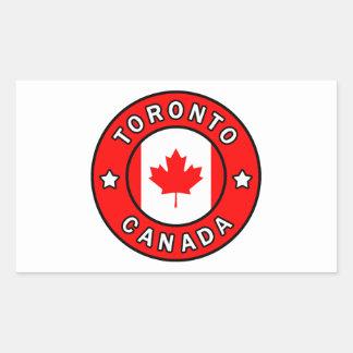 Adesivo Retangular Toronto Canadá