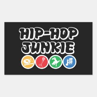 Adesivo Retangular Toxicómano de Hip Hop