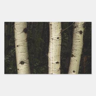Adesivo Retangular Três colunas da floresta
