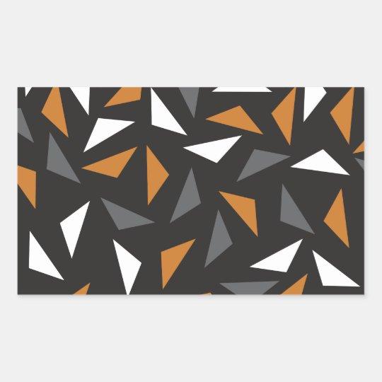 Adesivo Retangular Triângulos animados