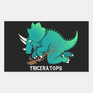 Adesivo Retangular Triceratops