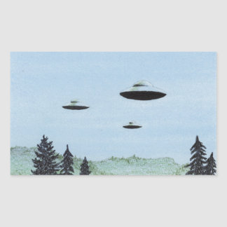 Adesivo Retangular Trio do UFO
