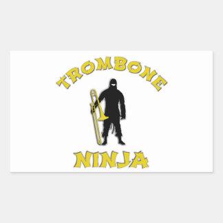 Adesivo Retangular Trombone Ninja