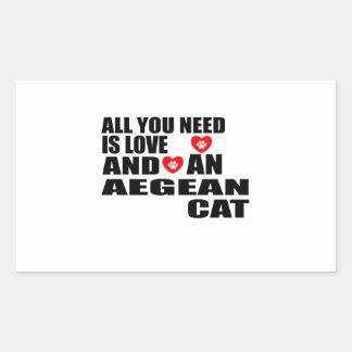 ADESIVO RETANGULAR TUDO QUE VOCÊ PRECISA É DESIGN EGEU DO CAT DO AMOR