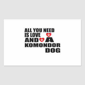 Adesivo Retangular Tudo você precisa o design dos cães do amor