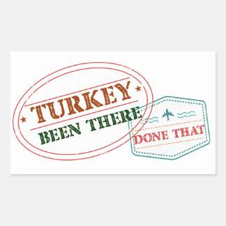 Adesivo Retangular Turquia feito lá isso
