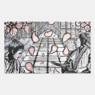 Adesivo Retangular Um desenhar por Carter L. Shepard