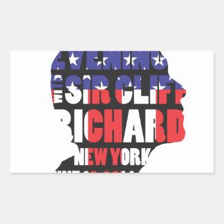 Adesivo Retangular Uma noite com senhor Cliff Richard