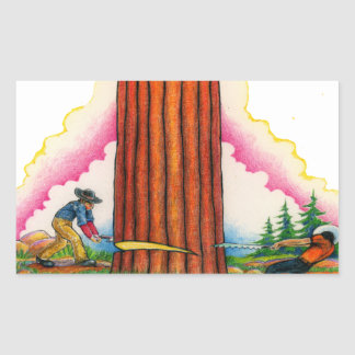 Adesivo Retangular Uma página poderosa 8 da árvore