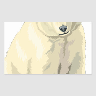 Adesivo Retangular Urso polar peluches