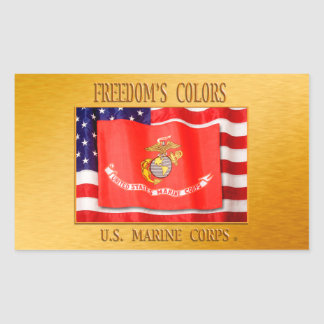 Adesivo Retangular USMC StickerUSMC, Corpo do Marines dos E.U.,