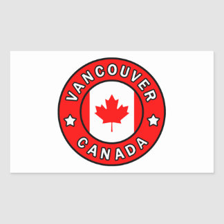Adesivo Retangular Vancôver Canadá