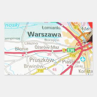 Adesivo Retangular Varsóvia, Varsóvia no Polônia