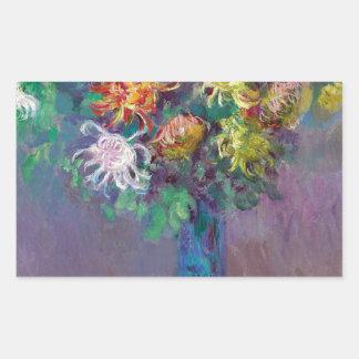 Adesivo Retangular Vaso dos crisântemos Claude Monet