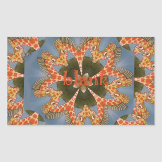 Adesivo Retangular Vazio colorido africano surpreendente bonito do