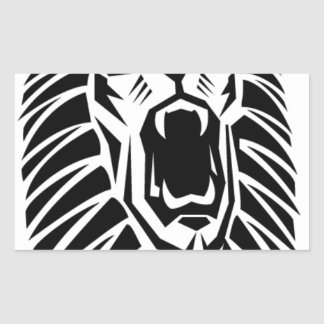 Adesivo Retangular vecto principal do leão
