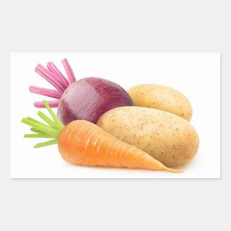 Adesivo Retangular Vegetais de raiz