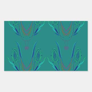 Adesivo Retangular Verde do nordic dos elementos do design