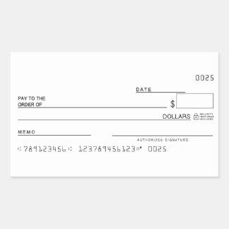 Adesivo Retangular Verifique objetivos manifestos do dinheiro da