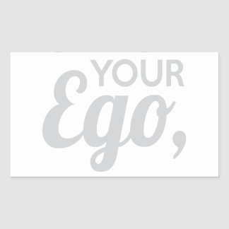 Adesivo Retangular Verifique seu amigo do ego