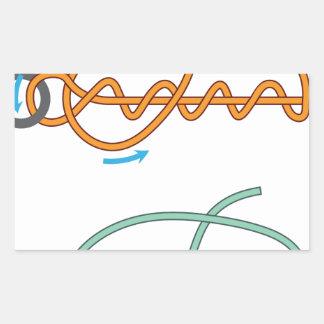 Adesivo Retangular Versão de duas cores melhorada do diagrama do nó