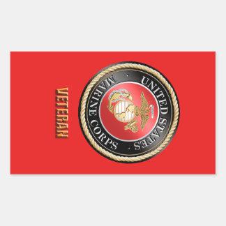 Adesivo Retangular Veterano StickerUSMC do USMC, Corpo do Marines dos