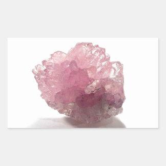 Adesivo Retangular Viajantes da felicidade de quartzo cor-de-rosa