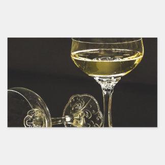 Adesivo Retangular vidros do champanhe
