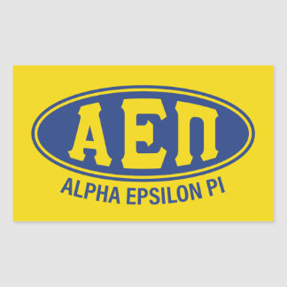 Adesivo Retangular Vintage alfa do Pi | do épsilon