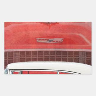 Adesivo Retangular Vintage branco vermelho de Dodge do Bel Air