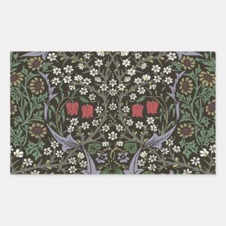 Adesivo Retangular Vintage da tapeçaria da ameixoeira-brava de