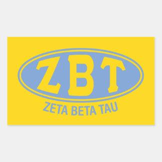 Adesivo Retangular Vintage da tau | do Zeta beta