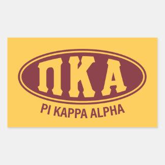 Adesivo Retangular Vintage do alfa | do Kappa do Pi