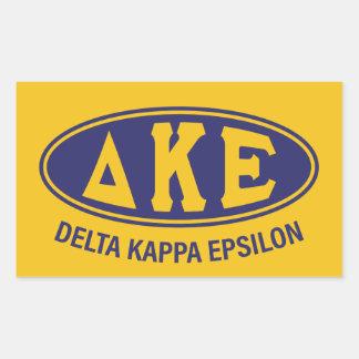 Adesivo Retangular Vintage do épsilon | do Kappa do delta