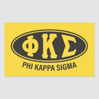 Adesivo Retangular Vintage do Sigma | do Kappa da phi