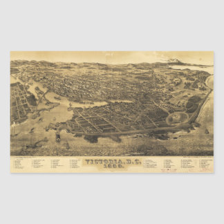 Adesivo Retangular Vista aérea de Victoria, B.C., Canadá (1889)