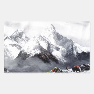 Adesivo Retangular Vista panorâmica da montanha de Everest