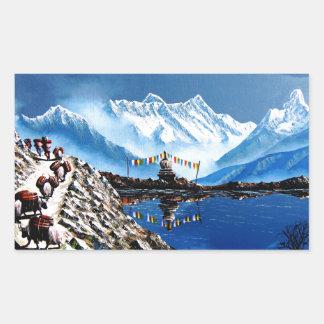 Adesivo Retangular Vista panorâmica da montanha Nepal de Annapurna