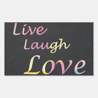 Adesivo Retangular Vive o amor do riso