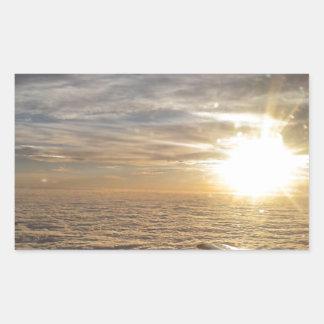 Adesivo Retangular voe os céus celestiais