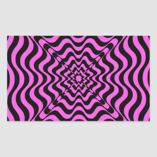 Adesivo Retangular Vortex cor-de-rosa