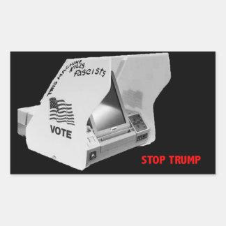 Adesivo Retangular Vote para baixo o fascismo