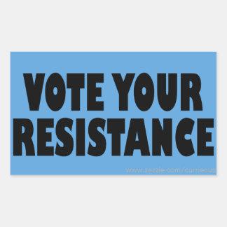 Adesivo Retangular Vote sua resistência