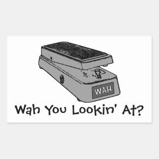 Adesivo Retangular Wah você Lookin em?