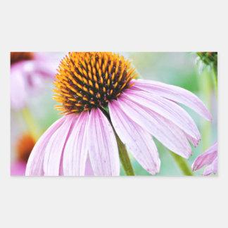 Adesivo Retangular Wildflowers roxos