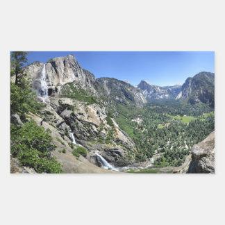 Adesivo Retangular Yosemite Falls e meia abóbada oh de meu Gosh ponto