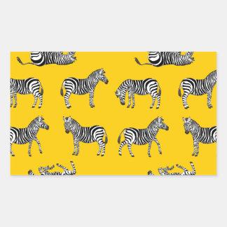 Adesivo Retangular Zebra selecção