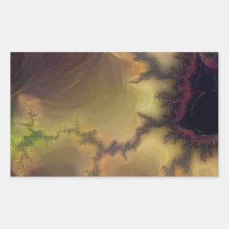 Adesivo Retangular Zumbido de da Vinci Mandelbrot