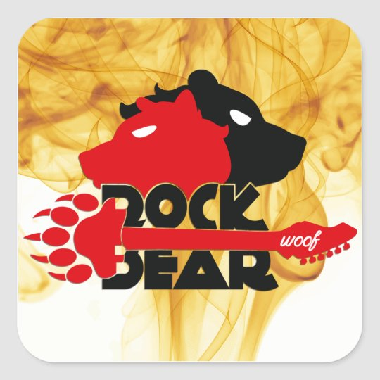 Adesivo Rock Bear Woof
